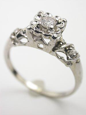 Antique Diamond Engagement Ring, Circa 1935