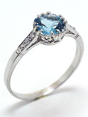 Antique Edwardian Aquamarine Engagement Ring