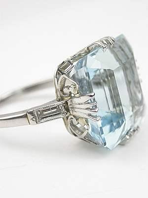 Classic Vintage Aquamarine Ring