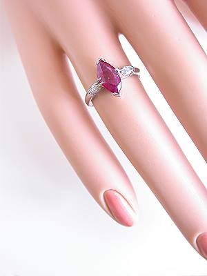 Marquise Cut Ruby Vintage Engagement Ring