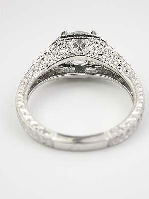 Filigree Aquamarine Engagement Ring
