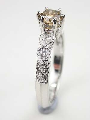 Champagne Diamond Engagement Ring