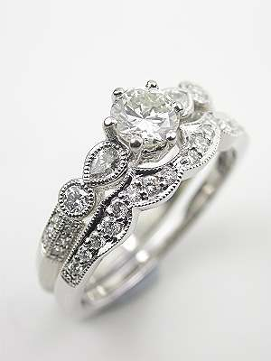 Diamond Engagement Ring with Pear Shaped Diamonds