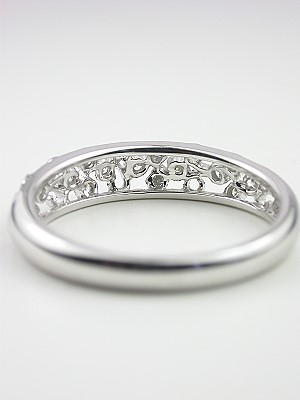 Floral Wedding Band with Diamonds