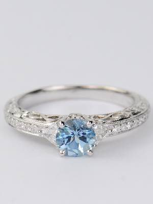 Vintage Style Engagement Ring with Infinity Symbols