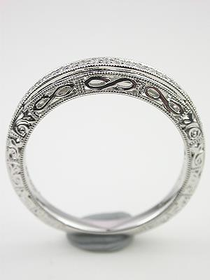 Antique Style Filigree Wedding Band