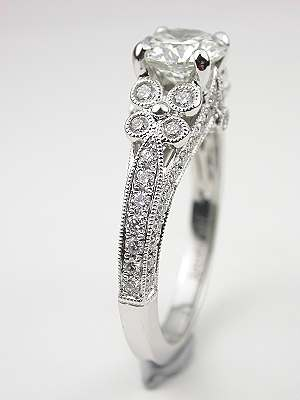 Dramatic Diamond Engagement Ring