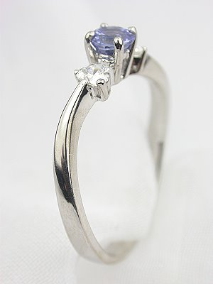 Contemporary Sapphire Engagement Ring