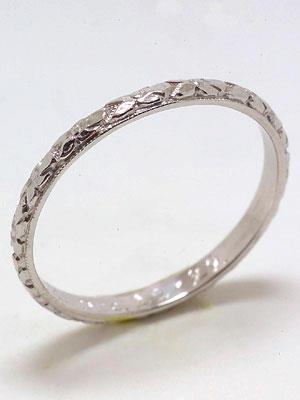 Belais Antique Carved Wedding Ring