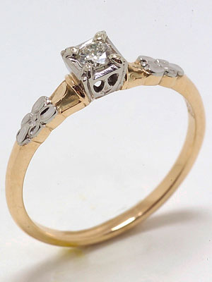 Classic Orange Blossom Engagement Ring