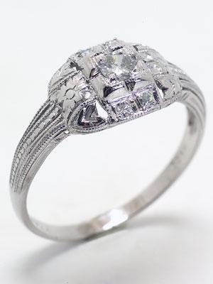 Antique Art Deco Diamond Engagement Ring