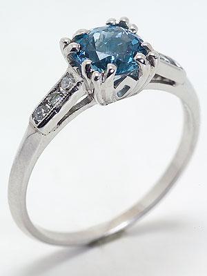 1940s Aquamarine Antique Engagement Ring
