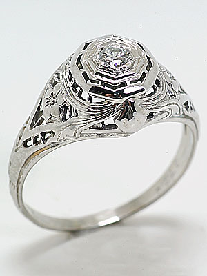 Classic Antique Engagement Ring by J.R. Wood