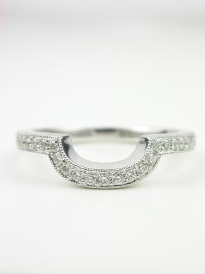 Curved Diamond Wedding Ring