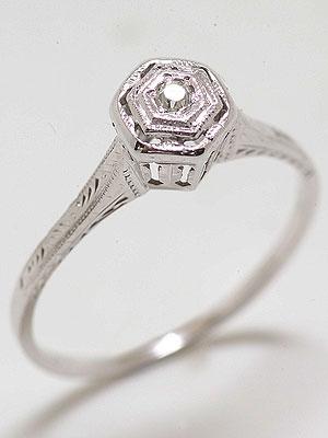 1920s Diamond Engagement Ring