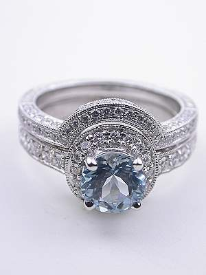 Vintage Halo Style Engagement Ring Mounting