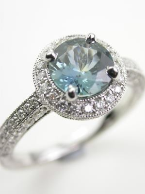 Outstanding Sapphire Engagement Ring
