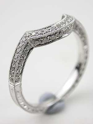 Curved Matching Wedding Band