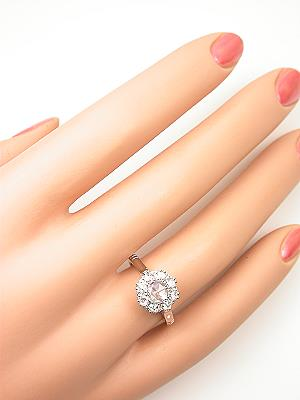 Edwardian Style Rose Cut Diamond Engagement Ring