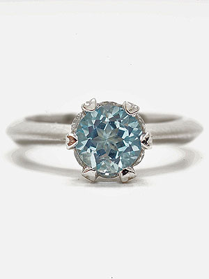 Aquamarine Engagement Ring in Platinum