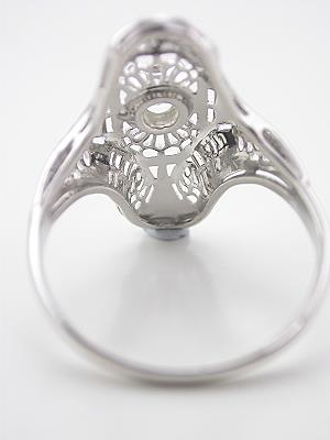 Antique Filigree and Diamond Dinner Ring