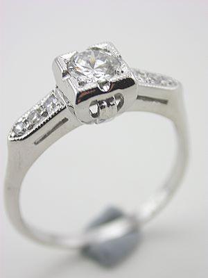 1930s Platinum and Diamond Engagement Ring