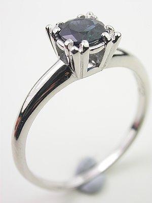 Classic Sapphire Platinum Engagement Ring