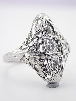 Edwardian Antique Ring with Bird Motif