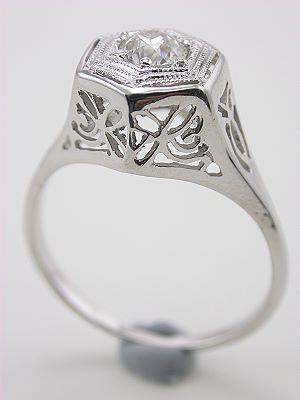 Old European Cut Antique Diamond Engagement Ring
