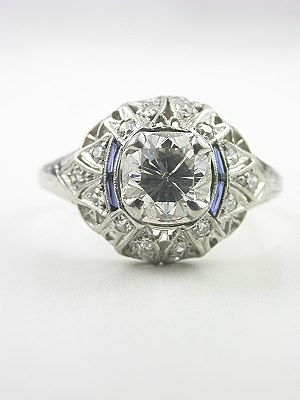 Art Deco Antique Diamond Filigree Engagment Ring