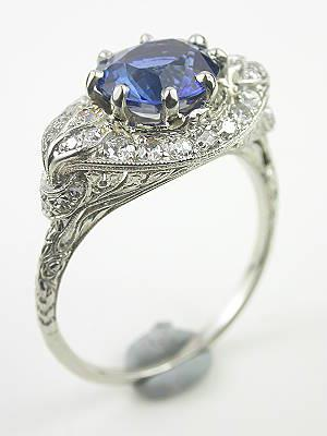 Antique Edwardian Sapphire Engagment Ring