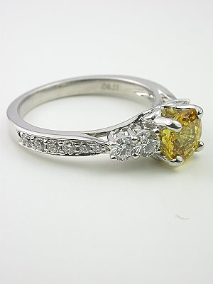 Glorious Yellow Sapphire Engagment Ring