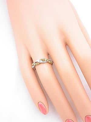 Swirling Wedding Band with Fancy Yellow Diamonds