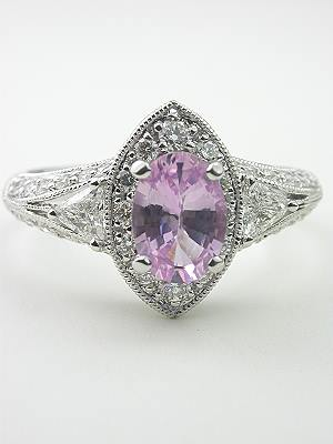 Romantic Pink Sapphire Engagement Ring