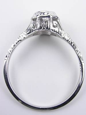 Late Edwardian Antique Filigree Engagement Ring