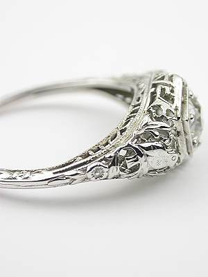 Edwardian Antique Engagement Ring with Bird Motif