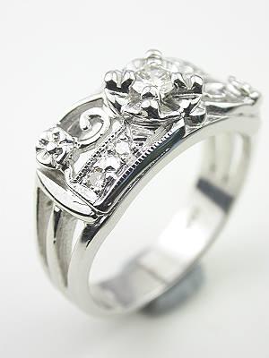 1950s Diamond Wedding Band