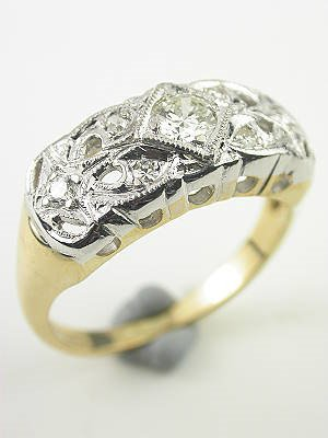 Antique Two-Toned Diamond Wedding Ring
