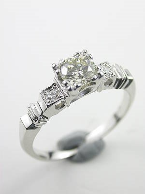 Antique Diamond Engagement Ring with Illusion Setting