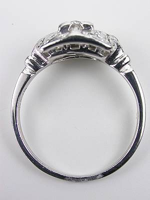 Old European Cut Diamond Antique Engagement Ring