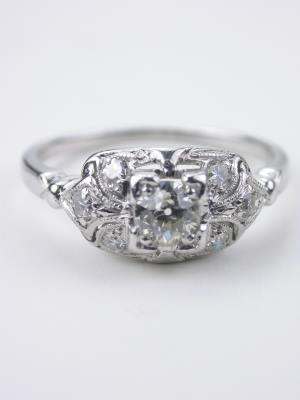 Antique Engagement Ring with Old European Cut Diamond