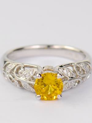 """Daffodil"" Yellow Sapphire Engagement Ring"