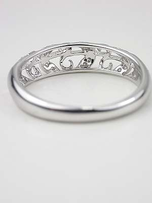Wedding Band with Vine and Leaf Motif