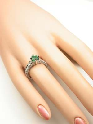 Filigree Antique Style Engagement Ring