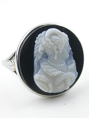 1920's Antique Cameo Ring