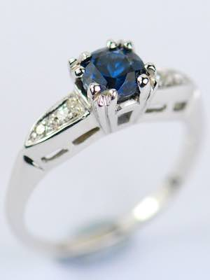 1930s Blue Sapphire Engagement Ring