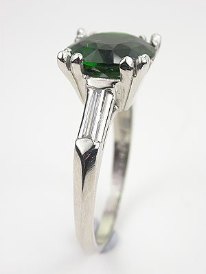 Vintage Engagement Ring with Chrome Tourmaline
