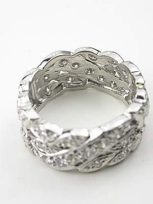 Eternity Ring with a Leaf and Ribbon Design
