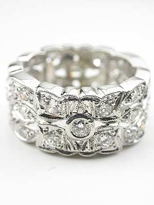 Classic Wide Vintage Wedding Ring