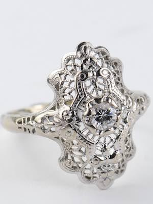Art Deco Filigree Antique Ring